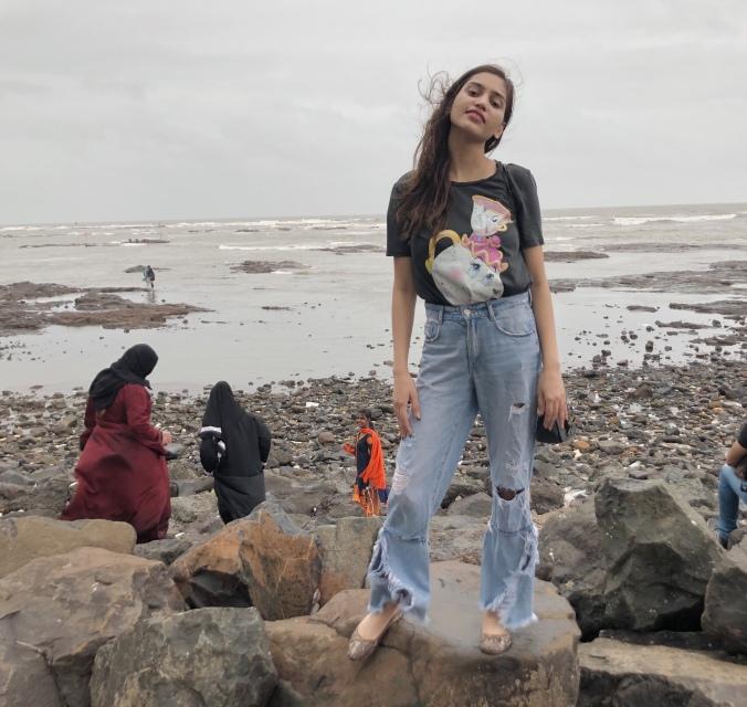 At Bandra Beach in Mumbai